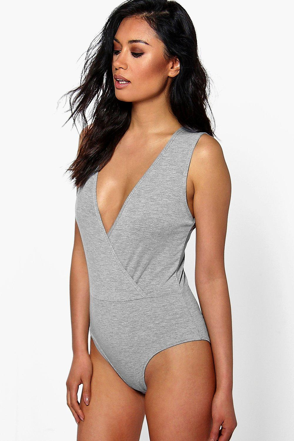 Ruby Sleeveless Wrap Bodysuit